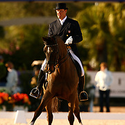 Michael L. Barrisone and Neruda at the Exquis World Dressage Masters in Wellington, Florida.