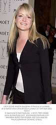 LADY ELOISE ANSON daughter of the Earl of Lichfield, at a fashion show and dinner in London on 16th April 2002.OZA 3