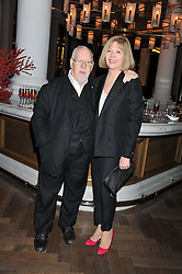 SIR PETER & LADY BLAKE at a dinner hosted by Pablo Ganguli and Ella Krasner to celebrate the 10th Anniversary of Liberatum and in honour of Sir Peter Blake held at The Corinthia Hotel, Nortumberland Avenue, London on 23rd November 2011.