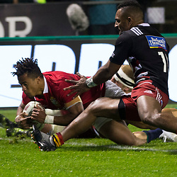 Anthony Watson scores, Toll Stadium, Whangarei game 1 of the British and Irish Lions 2017 Tour of New Zealand,The match between Provincial Union Team and British and Irish Lions,Saturday 3rd June 2017   <br /> <br /> (Photo by Kevin Booth Steve Haag Sports)<br /> <br /> Images for social media must have consent from Steve Haag