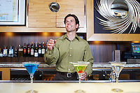 Bartender Tossing Shaker in the Air