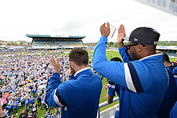 Bristol Rovers' Ellis Harrison applauds the Bristol Rover fans at the memorial stadium - Photo mandatory by-line: Dougie Allward/JMP - Mobile: 07966 386802 - 25/05/2015 - SPORT - Football - Bristol - Bristol Rovers Bus Tour