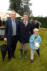 Left to right, MARK SHAND, MARK STEWART and his son MARCUS STEWART at the Cartier Style Et Luxe at the Goodwood Festival of Speed, Goodwood House, West Sussex on 24th June 2007.<br />