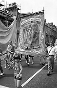 Gascoigne Wood Branch banner. NUM Centenary Demonstration and Gala, Barnsley.