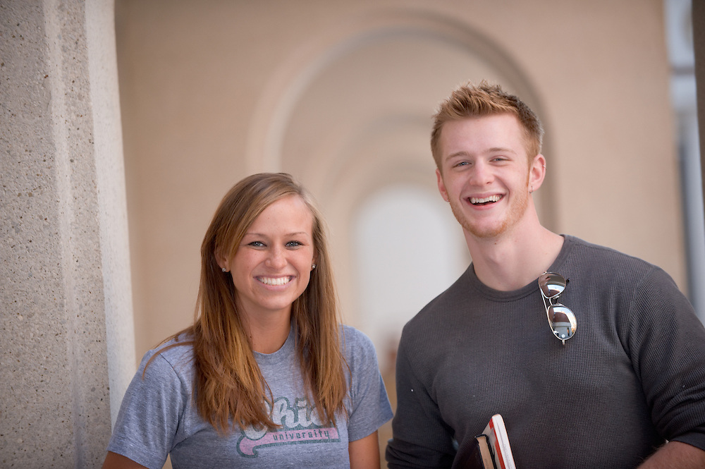 Campus shots: Amy Swearingen and Ryan Dease
