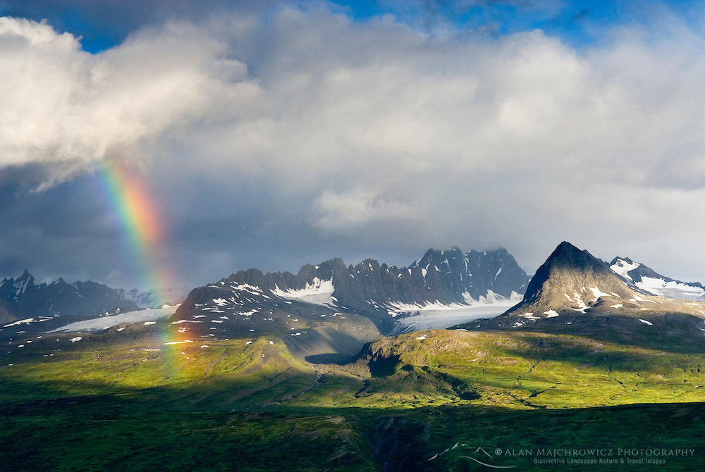 Rainbow over the Chugach Mountains of Alaska