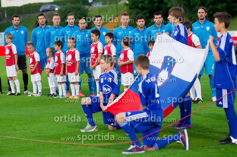 Players of SLovenia during friendly football match between national teams of Slovenia and Greece, on May 26, 2012 in Kufstein, Austria.   (Photo by Vid Ponikvar / Sportida.com)