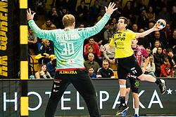 Matanovic Vlado of RK Gorenje Velenje during handball match between RK Gorenje Velenje and Abanca Ademar Leon in Round #32 of EHF Cup 2019/20, 28 February, 2020 in Rdeca Dvorana, Velenje Slovenia. Photo By Grega Valancic / Sportida