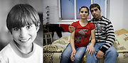 Gabriela Gangal when she was 11 in 1995 and pregnant in October 2008, pregnant, with her boyfriend in the room she used to live in in Iasi. She now has 2 children and lives with her partner at their in-laws in Iasi.