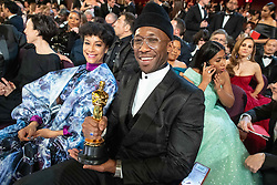 Mahershala Ali poses with the Oscar® for performance by an actor in a supporting role during the live ABC Telecast of The 91st Oscars® at the Dolby® Theatre in Hollywood, CA on Sunday, February 24, 2019.