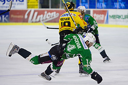 Matej Hocevar of Olimpija  during 52nd Round of EBEL league ice-hockey match between HDD Tilia Olimpija, Ljubljana and EV Vienna Capitals, on February 7, 2010 in Arena Tivoli, Ljubljana, Slovenia. Vienna defeated Olimpija 8-2. (Photo by Vid Ponikvar / Sportida)