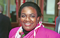 Diane Abbot, Labour MP. Taken at 1996 Labour Party Conference..Ref: 199610004.<br />