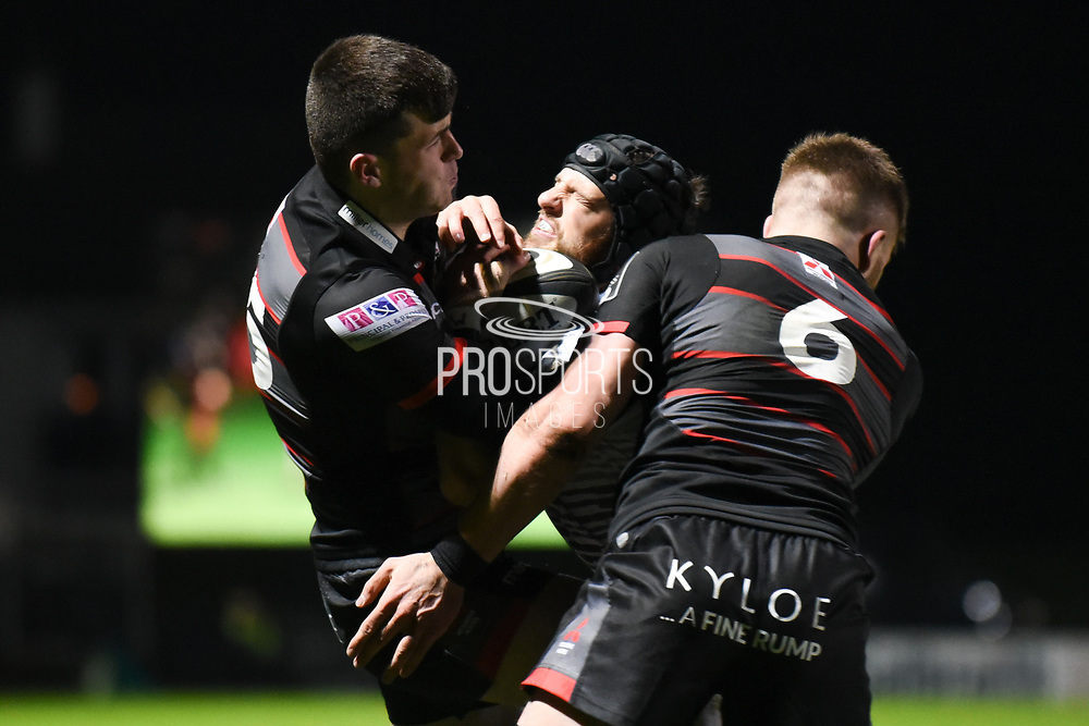 Edinburgh put the squeeze on Ospreys during the Guinness Pro 14 2017_18 match between them at Myreside Stadium, Edinburgh, Scotland on 4 November 2017. Photo by Kevin Murray.