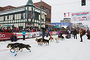 Musher Michi Konno at the Iditarod Race 2018.<br /> <br /> <br /> <br /> Photographer: Christina Sjögren<br /> Copyright 2018, All Rights Reserved