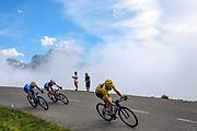 Geraint Thomas (GBR - Team Sky), Mikel Landa (ESP - Movistar), Romain Bardet (FRA - AG2R - La Mondiale) during the 105th Edition of Tour de France 2018, cycling race stage 19, Lourdes - Laruns (200 km) on July 27, 2018 in Laruns, France - photo Kei Tsuji / BettiniPhoto / ProSportsImages / DPPI