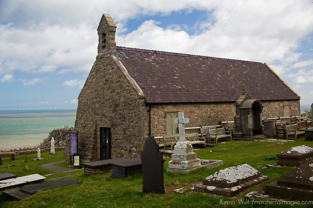 Europe, United Kingdom, Wales, Conwy. St. Tudno church on the Great Orme, Wales.