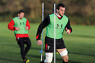 Wales rugby team training at the Vale, Hensol, near Cardiff on Thursday 29th November 2012. the team are preparing for their final Autumn international match against Australia this Saturday. pic by Andrew Orchard, Andrew Orchard sports photography,