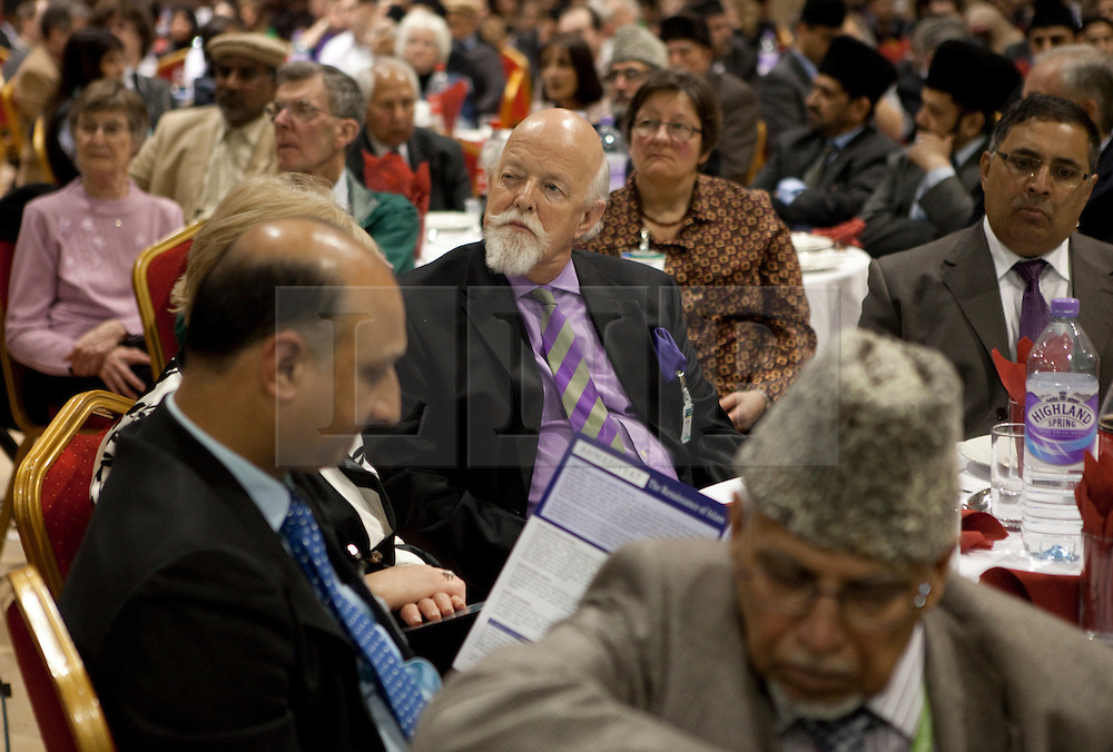 © Licensed to London News Pictures. 24/03/2012. Surrey, U.K..Guests at Europe's largerst mosque, Baitul Futuh Mosque, in Morden, Surrey, which holds 10,000 worshipers. .Parliamentarians and religious, civic, charitable and community leaders meet here this evening 24/3/2012 for a National Peace Symposium on International Peace organised by the Ahmadiyya Muslim community to hear how Muslims are countering extremism..Photo credit : Rich Bowen/LNP