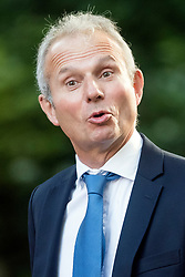 © Licensed to London News Pictures. 12/09/2017. London, UK. Lord Chancellor and Secretary of State for Justice DAVID LIDINGTON arrives at 10 Downing Street in London ahead of a cabinet meeting.  In the early hours of this morning government won a vote in Commons passing the EU repeal bill, by a margin of 326 to 290 votes. Photo credit: Ben Cawthra/LNP