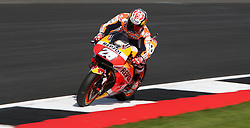 Repsol Honda's Dani Pedrosa during a practice session ahead of the British Grand Prix at Silverstone, Towcester. PRESS ASSOCIATION Photo. Picture date: Friday August 25, 2017. See PA story MOTO British. Photo credit should read: David Davies/PA Wire. RESTRICTIONS: Editorial use only. No commercial use.