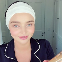 """Miranda Kerr releases a photo on Instagram with the following caption: """"Shoutout to @feelingkooshoo for making these awesome headbands for the launch of my @koraorganics Turmeric Brightening \u0026 Exfoliating Mask! They\u2019re comfy, come in many colors and hold all those tiny fly-away hairs back while you cleanse \u0026 mask \u263a\ufe0f"""". Photo Credit: Instagram *** No USA Distribution *** For Editorial Use Only *** Not to be Published in Books or Photo Books ***  Please note: Fees charged by the agency are for the agency's services only, and do not, nor are they intended to, convey to the user any ownership of Copyright or License in the material. The agency does not claim any ownership including but not limited to Copyright or License in the attached material. By publishing this material you expressly agree to indemnify and to hold the agency and its directors, shareholders and employees harmless from any loss, claims, damages, demands, expenses (including legal fees), or any causes of action or allegation against the agency arising out of or connected in any way with publication of the material."""