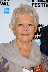 Judi Dench nominated  best leading actress for the Oscars 2014.<br /> Dame Judi Dench at the Bfi Film Festival Photocall for 'Philomena' at Claridges Hotel. London, United Kingdom. Wednesday, 16th October 2013. Picture by Chris Joseph / i-Images