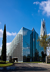 GARDEN GROVE, CA :  Stock photo of the Crystal Cathedral in the afternoon. Tel (714) 504-6870. Byline and/or web usage link must read: 2009 © Eduardo E. Silva/SILVEX.PHOTOSHELTER.COM.
