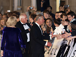 The Duchess of Cornwall (L), and the Prince of Wales (R) arrives for the World Premiere of the latest James Bond film  'Skyfall', Royal Albert Hall, London, October 23, 2012. Photo by Max Nash / i-Images.
