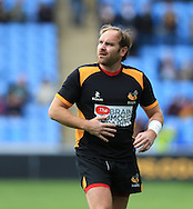 Andy Goode of Wasps warming up before his last home game in the Aviva Premiership match at the Ricoh Arena, Coventry<br /> Picture by Michael Whitefoot/Focus Images Ltd 07969 898192<br /> 09/05/2015