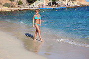 """EXCLUSIVE<br /> TOWIE""""S Billie Faiers on the beach in Portugal looking stunning in Blue Bikini<br /> ©Exclusivepix Media"""