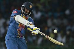 March 16, 2018 - Colombo, Sri Lanka - Sri Lankan cricket captain Thisara Perera plays a shot during the 6th T20 cricket match of NIDAHAS Trophy between Sri Lanka  and Bangladesh at R Premadasa cricket ground, Colombo, Sri Lanka on Friday 16 March 2018. (Credit Image: © Tharaka Basnayaka/NurPhoto via ZUMA Press)