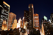 New York, New York. United States. February 26th 2006..Est view towards 5th Avenue between 55th and 56th Street (from a building located on 6th Avenue and 55th Street)..