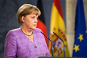 Angela Merkel and Mariano Rajoy Meeting at Moncloa