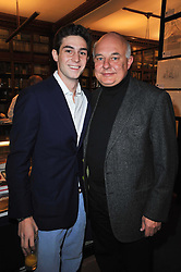 ROLF SACHS and his son PHILLIP SACHS at a party to celebrate the publication of Maryam Sach's novel 'Without Saying Goodbye' held at Sotheran's Bookshop, 2 Sackville Street, London on 10th November 2009.