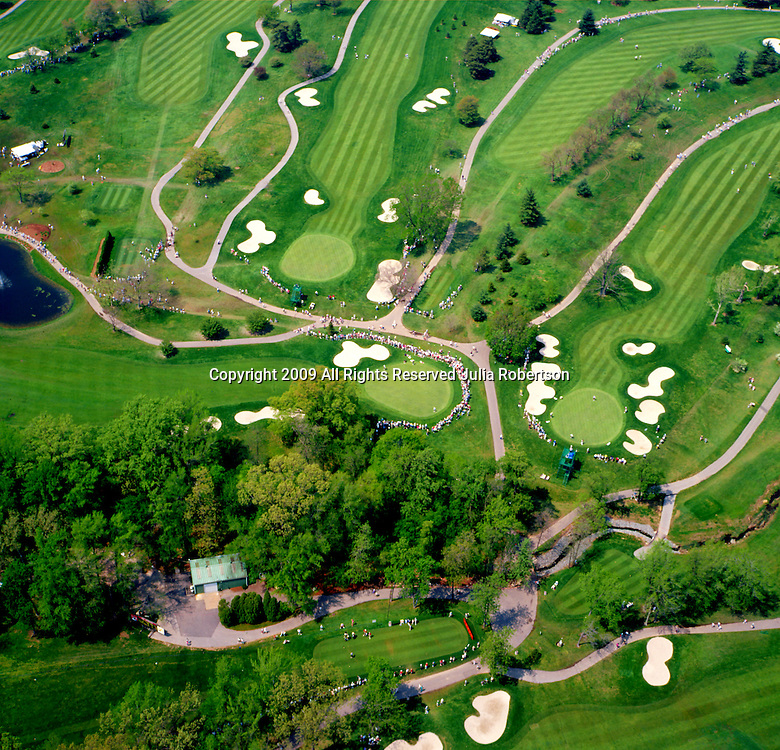 Aerial view of the LPGA Golf Tournament at the Dupont Country Club