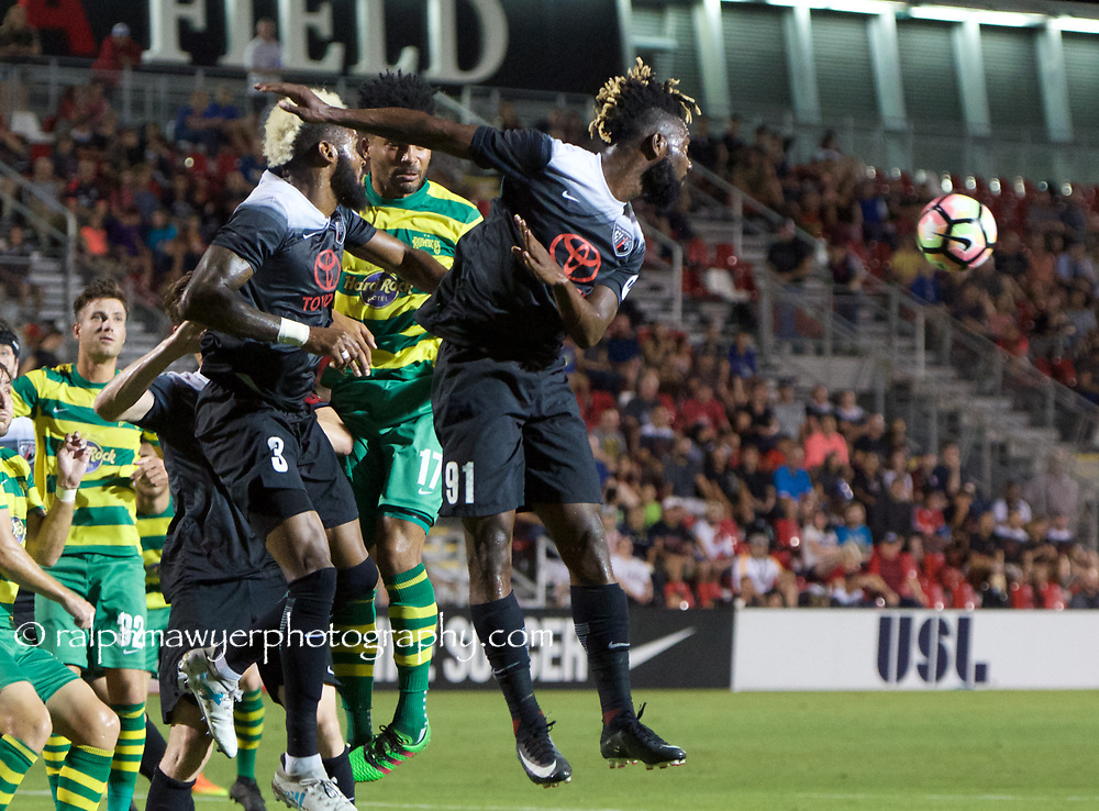 Tampa Bay Rowdies FC play San Antonio FC during the first half of a USL soccer match, Saturday, Oct 7th, 2017, at Toyota Field in San Antonio, Texas. (Ralph Mawyer/USL)<br /> <br /> COPYRIGHT: Darren Abate LLC