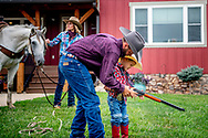 USA WAUKON IOWA - the cowboy family Everman at thier rach during the daily life ROBIN UTRECHT USA WAUKON IOWA - the cowboy family Everman at thei ranch during the daily life ROBIN UTRECHT