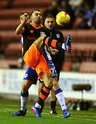 Jack Hunt of Sheffield Wednesday and Michael Jacobs of Wigan Athletic - Mandatory by-line: Matt McNulty/JMP - 03/02/2017 - FOOTBALL - DW Stadium - Wigan, England - Wigan Athletic v Sheffield Wednesday - Sky Bet Championship