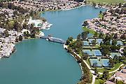 Aerial Photo of South Lake of Woodbridge in Irvine California
