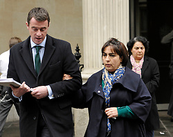 © Licensed to London News Pictures. 28/11/2013; Bristol, UK.  Manizhah Moores, the sister of murder victim Bijan Ebrahimi and accompanied by the family's lawyer Tony Murphy, speaks to the media after sentencing during the trial at Bristol Crown Court.  Lee James age 24 was convicted of what is described as the vigilante murder of Bijan Ebrahimi in Bristol, and was sentenced to life imprisonment.  Accomplice Stephen Norley age 24 was sentenced to 4 years.  28 November 2013.<br /> Photo credit : Simon Chapman/LNP