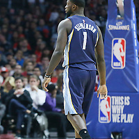 12 April 2016: Memphis Grizzlies forward Lance Stephenson (1) is seen during the Los Angeles Clippers 110-84 victory over the Memphis Grizzlies, at the Staples Center, Los Angeles, California, USA.