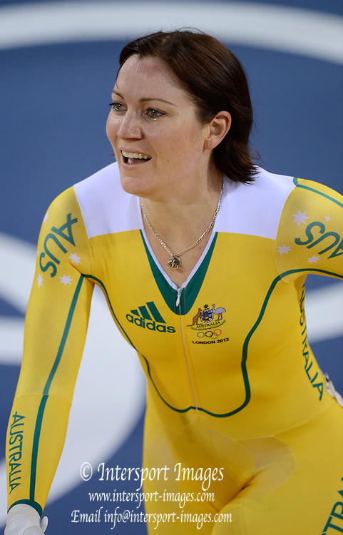 2012 Olympic Velodrome. London,Great Britain,..Description:  Women's Sprint Gold Medalist  AUS.  Anna MEARS. London Velodrome...2012 London Olympic Track Cycling. Velodrome, Stratford East London. UK.. ..16:23:48  Tuesday  07/08/2012 [Mandatory Credit: Peter Spurrier/Intersport Images]  .