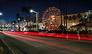 West Shoreline Drive and Aquarium Way at Night Long Beach