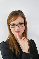Portrait of beautiful businesswoman wearing eyeglasses
