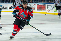 KELOWNA, BC - DECEMBER 18:  Matthew Wedman #20 of the Kelowna Rockets warms up on the ice against the Vancouver Giants for his first home game after being traded at Prospera Place on December 18, 2019 in Kelowna, Canada. Wedman was selected in the 2019 NHL entry draft by the Florida Panthers. (Photo by Marissa Baecker/Shoot the Breeze)
