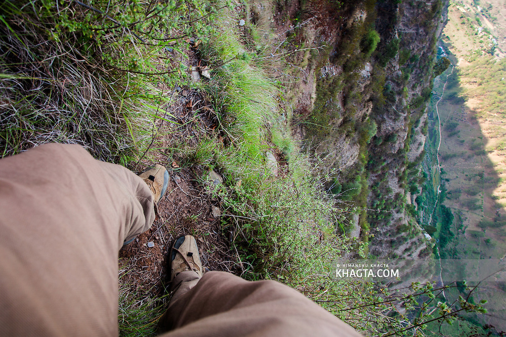 Exploring the Limestone caves in Chaupal region of Shimla, Himachal, India