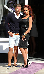 """Former TOWIE and her Boyfriend Dave Peters attend The Launch Of Her New Boutique Opening Of """"Amy Childs Boutique.""""Brentwood,Essex.London, Wednesday September 5, 2012"""