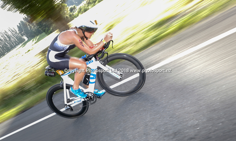 New Zealand's Teresa Adam, Ironman New Zealand, Taupo, New Zealand. Saturday, 03 Mrach, 2018. Copyright photo: John Cowpland / www.photosport.nz