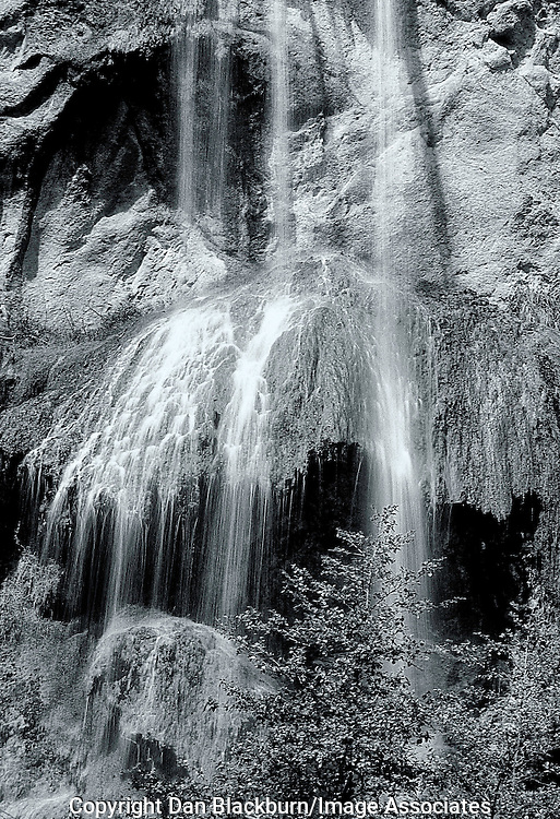 Escondido Falls Tumbles Over Rocks and Grass in California