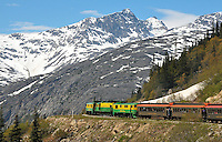 White Pass train near Skagway, Alaska